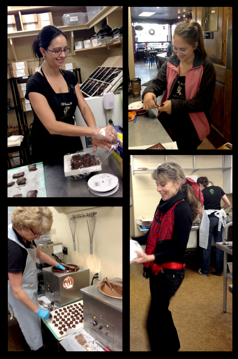 Busy in the kitchen at The Chocolate Therapist