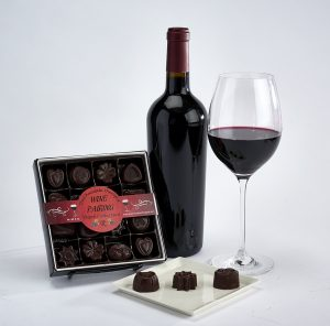 Dark chocolate and red wine