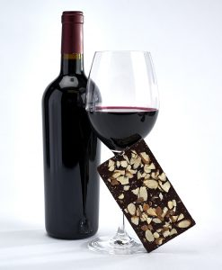 Dark chocolate pairing collection, red wine, Down by the Sea Salt bar