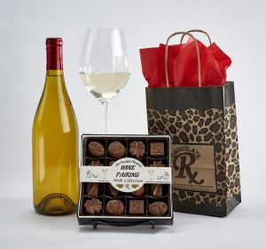 White wine and milk chocolate pairing collection