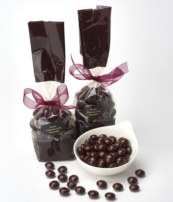 72% Dark Chocolate Covered Ginger - The Chocolate Therapist